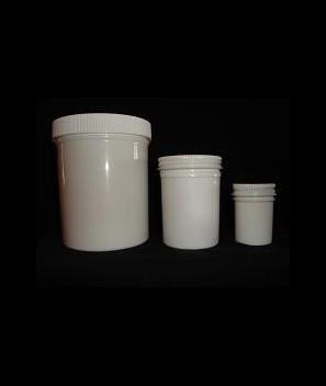 W/M plastic jar with cap 1 pt.
